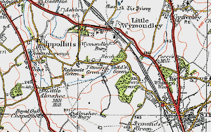 Old map of Wyck, The in 1919
