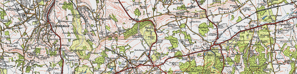 Old map of Titsey in 1920