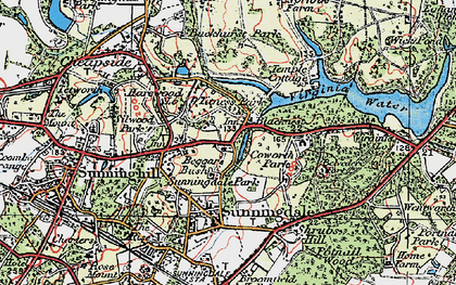 Old map of Tittenhurst in 1920