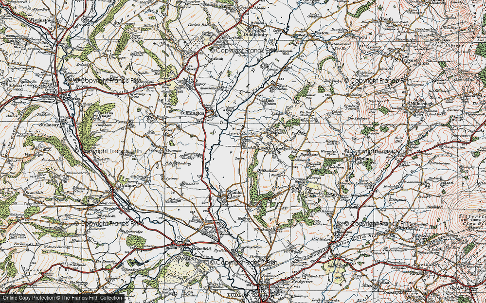 Old Map of Titterhill, 1920 in 1920