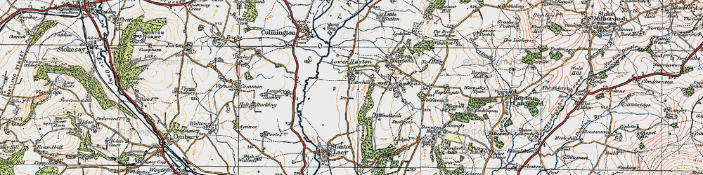 Old map of Titterhill in 1920