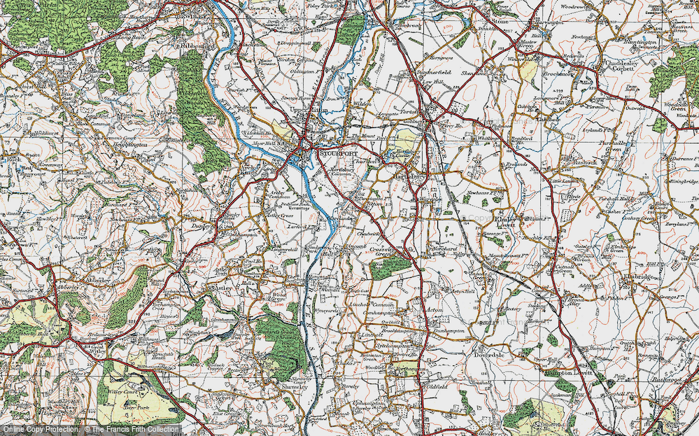 Old Map of Titton, 1920 in 1920