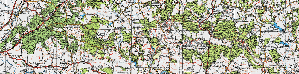 Old map of Titty Hill in 1919