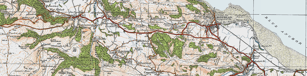 Old map of Tivington in 1919