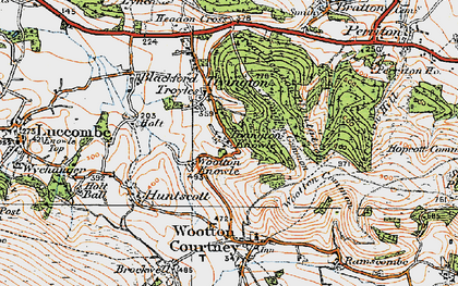 Old map of Tivington Knowle in 1919