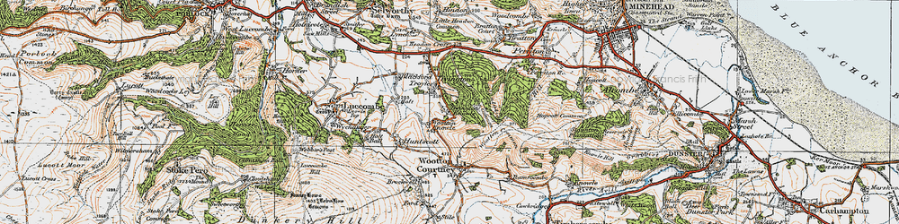Old map of Tivington Common in 1919