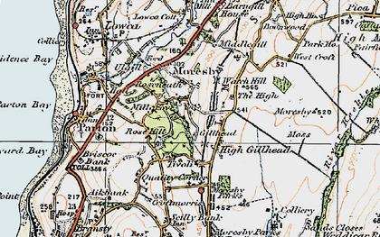 Old map of Tivoli in 1925