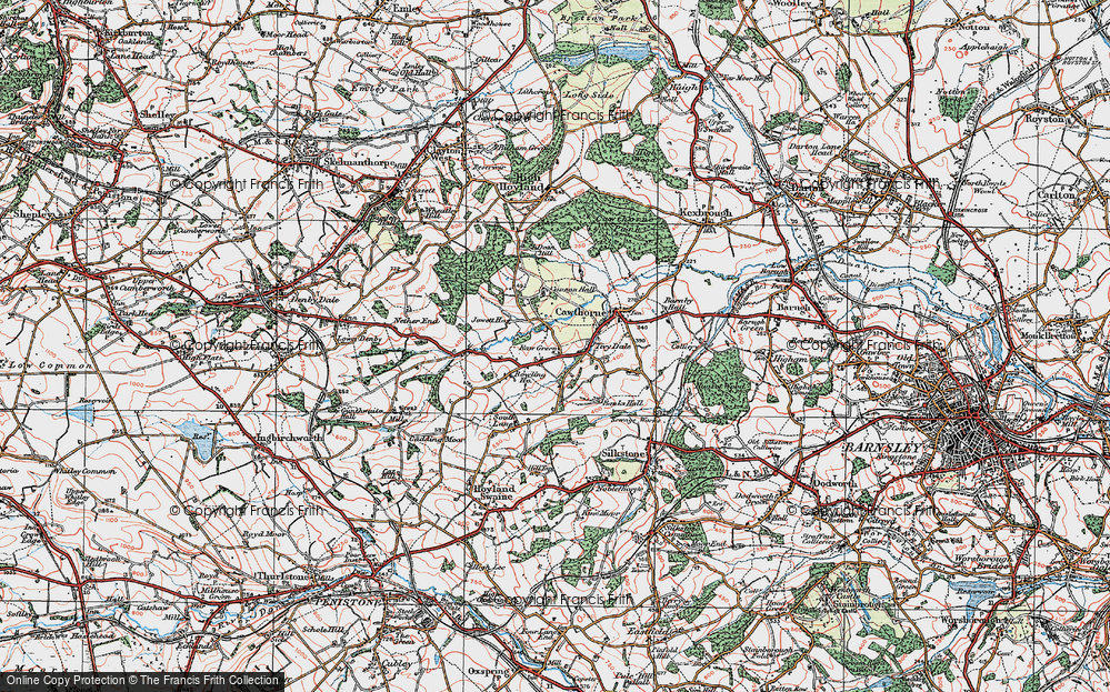 Old Map of Tivy Dale, 1924 in 1924