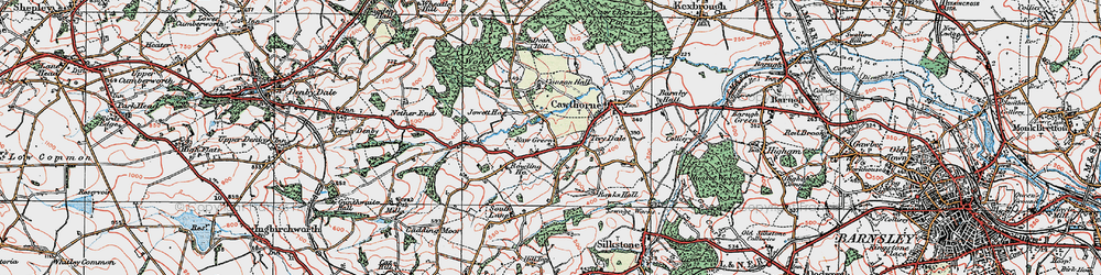 Old map of Tivy Dale in 1924