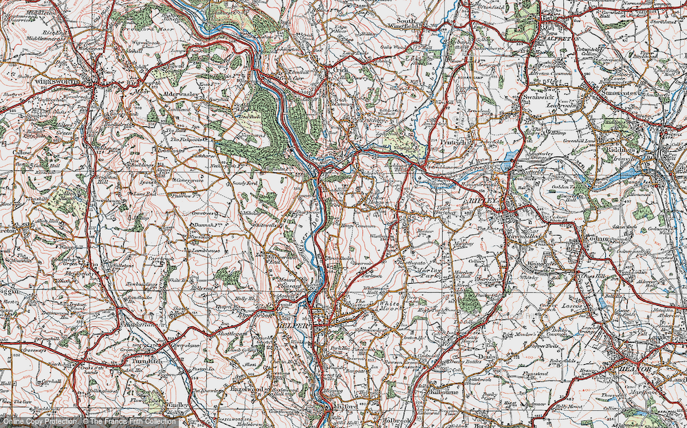 Old Map of Toadmoor, 1921 in 1921