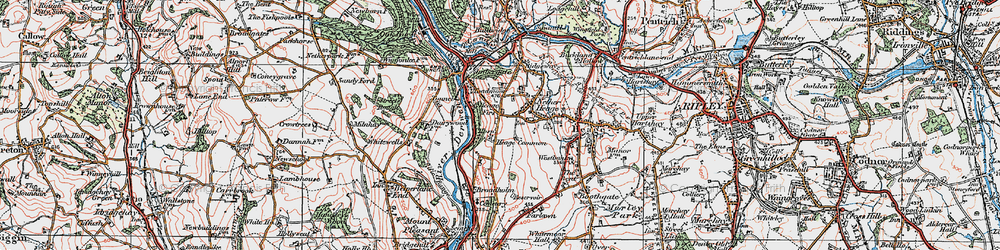 Old map of Toadmoor in 1921