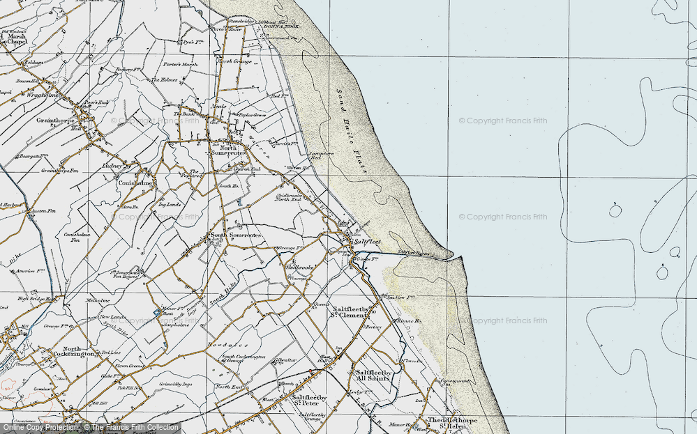 Old Map of Toby's Hill, 1923 in 1923