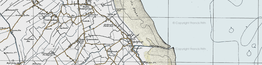 Old map of Toby's Hill in 1923