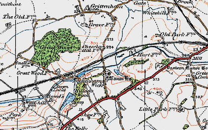 Old map of Tockenham Wick in 1919