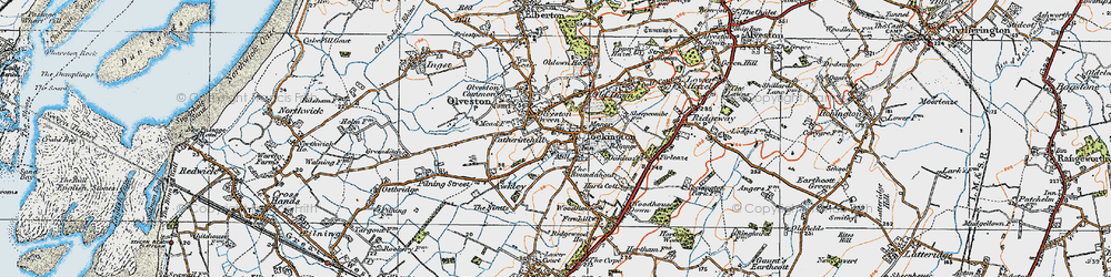 Old map of Tockington in 1919