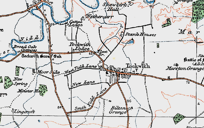 Old map of Wilstrop Wood in 1925