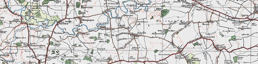 Old map of Wilstrop Wood in 1925