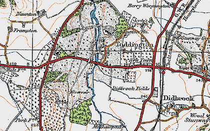 Old map of Toddington in 1919