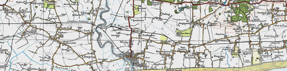 Old map of Toddington in 1920