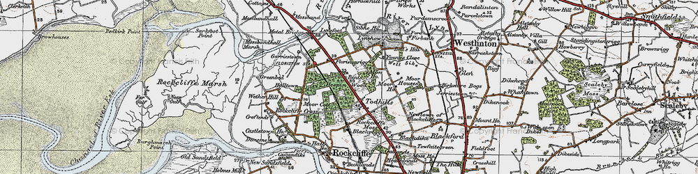 Old map of Young's Close in 1925