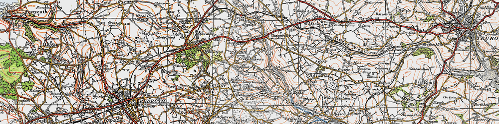 Old map of Todpool in 1919