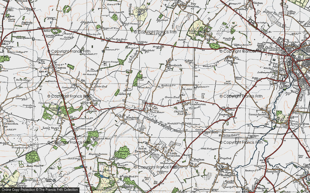 Old Map of Toft, 1920 in 1920