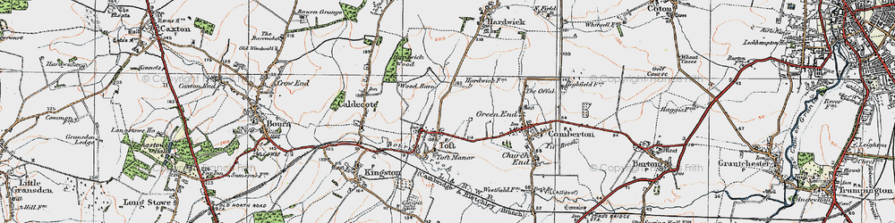 Old map of Toft in 1920