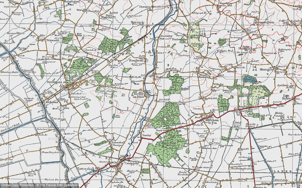 Old Map of Toft Hill, 1923 in 1923