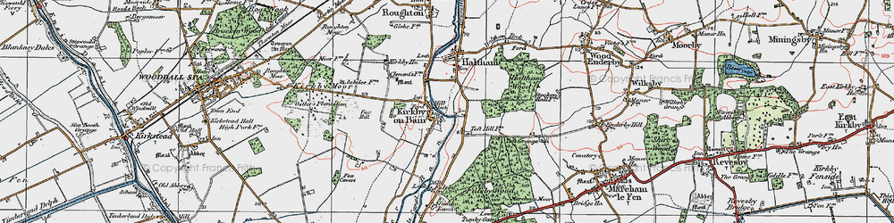 Old map of Toft Hill in 1923