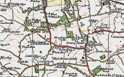 Old map of West Witton Row in 1925