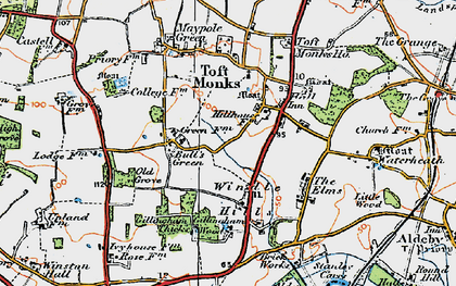 Old map of Windle Hills in 1922