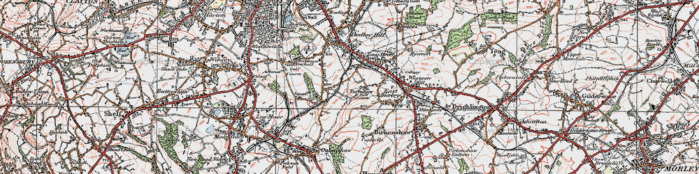 Old map of Toftshaw in 1925