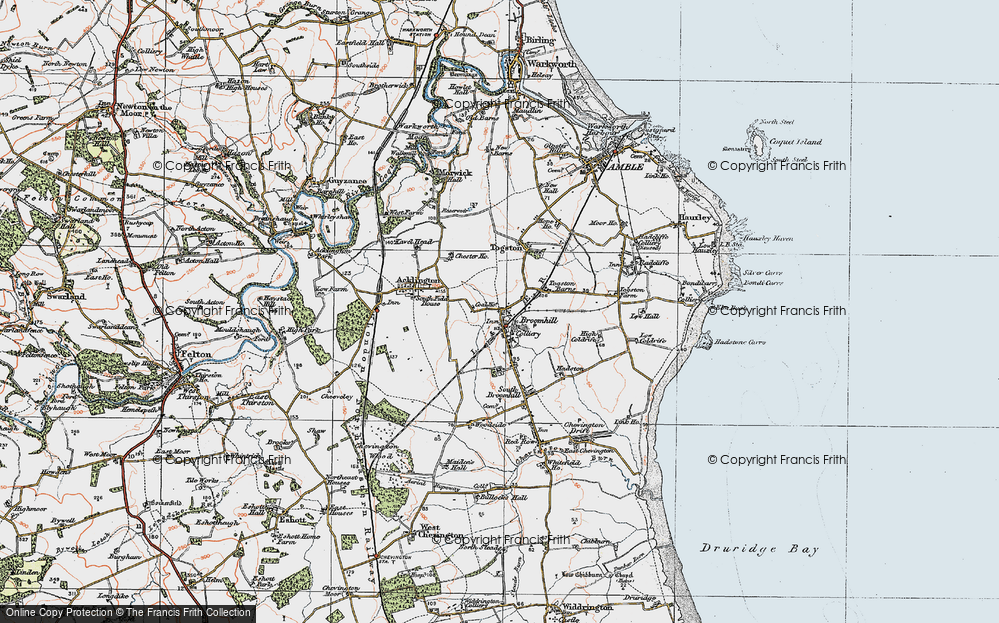 Old Map of Togston, 1925 in 1925