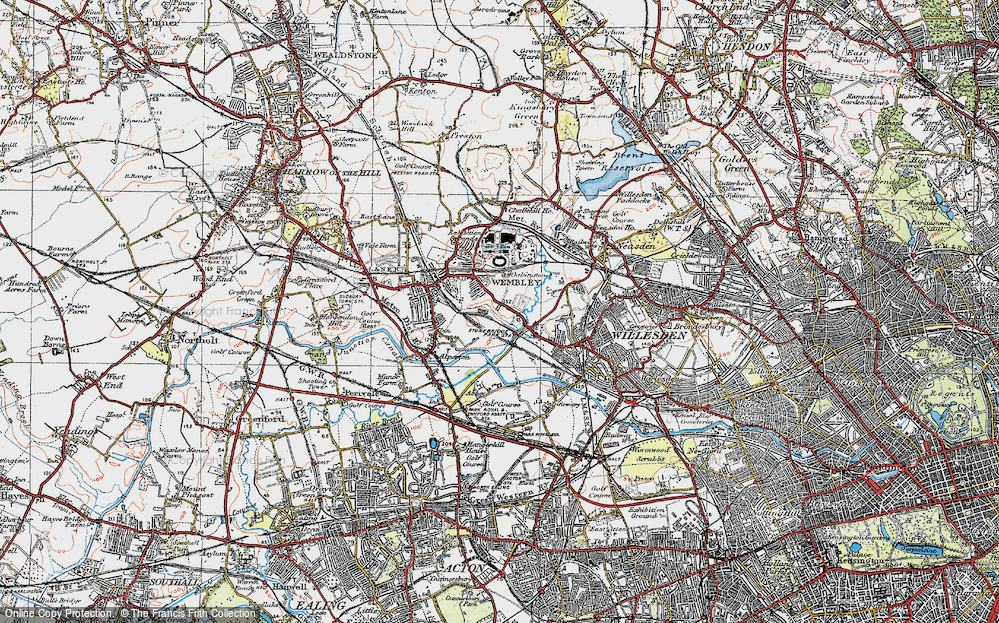 Old Map of Tokyngton, 1920 in 1920