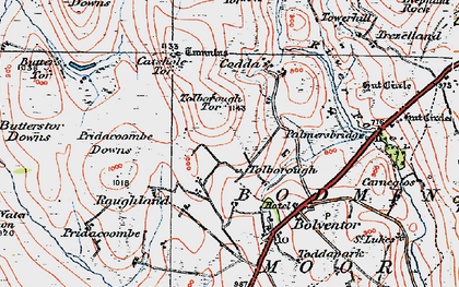Old map of Tolborough in 1919