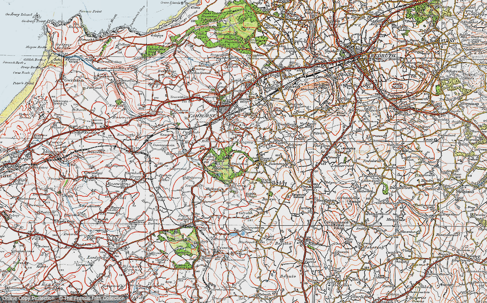 Old Map of Tolcarne, 1919 in 1919