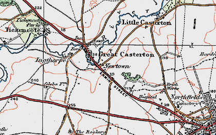 Old map of Toll Bar in 1922