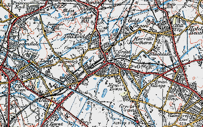Old map of Toll End in 1921