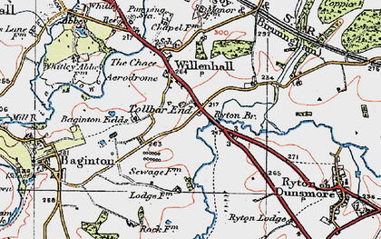 Old map of Tollbar End in 1920