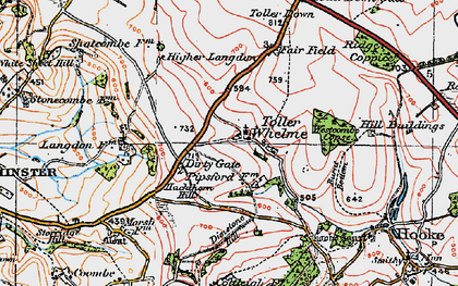 Old map of Westcombe Coppice in 1919