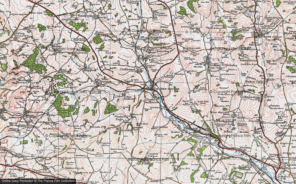 Old Map of Tollerford, 1919 in 1919