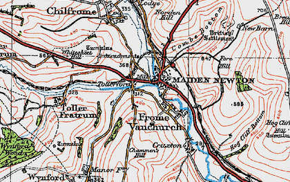 Old map of Tollerford in 1919