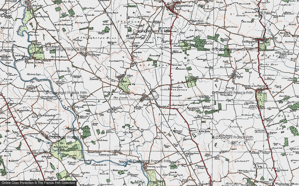 Old Map of Tollerton, 1924 in 1924