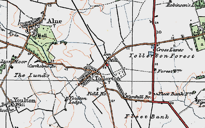 Old map of York Br in 1924