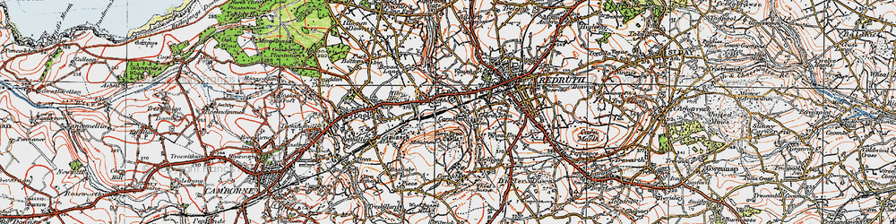 Old map of Tolskithy in 1919