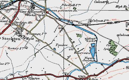 Old map of Tomlow in 1919