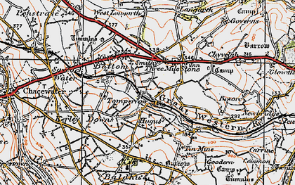Old map of Tomperrow in 1919