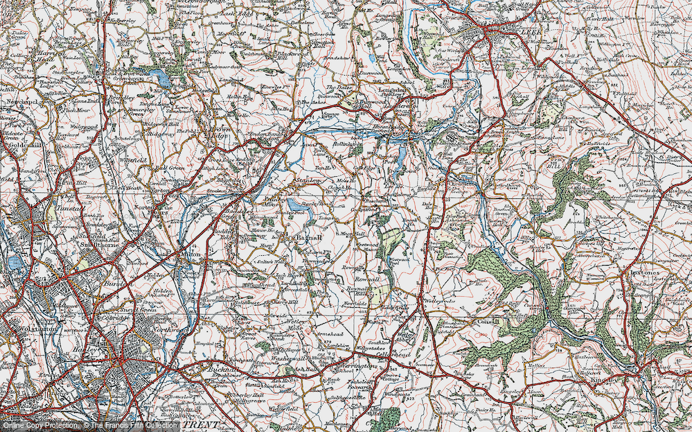 Old Map of Tompkin, 1921 in 1921