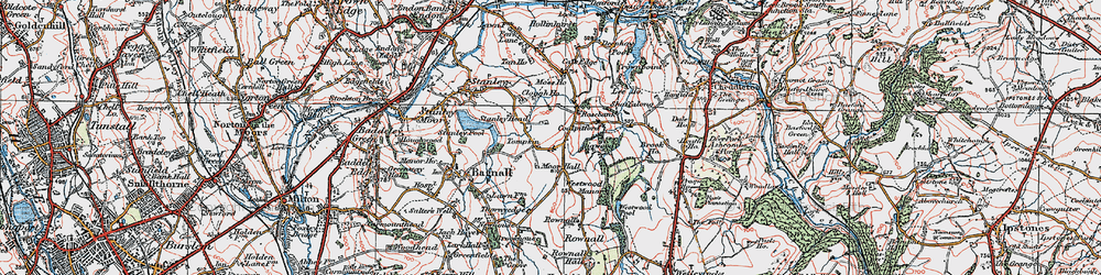 Old map of Tompkin in 1921