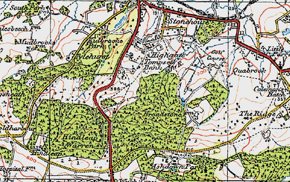 Old map of Tompset's Bank in 1920